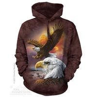 The Mountain Eagle and Clouds Adult Hoodie