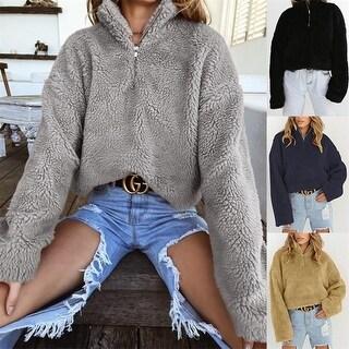 Women's High Collar Long Sleeve Thick Sweater