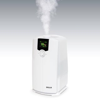 Della Portable Ultrasonic Humidifiers Warm & Cool Mist 4L for Bedroom with LED Display