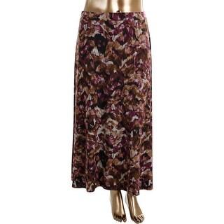 Kasper Womens A-Line Printed Maxi Skirt - XL