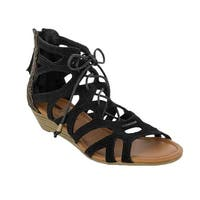 Minnetonka Merida II Women Open Toe Suede Gladiator Sandal