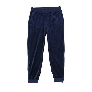 Sean John NEW Blue Navy Mens Size XL Velour Stretched Track Pants