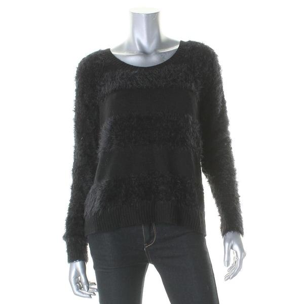 XOXO Womens Juniors Crop Sweater Lace Back Crew - M