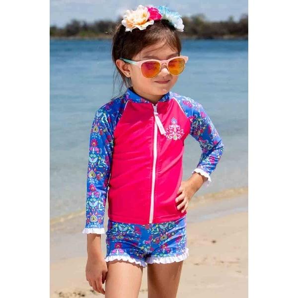 Sun Emporium Frida Print Jacket Long Sleeve Boyleg Swim Set Baby Girls. Opens flyout.