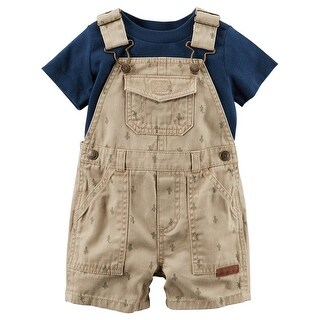 Carter's Baby Boys' 2-Piece Top & Shortalls Set, 12 Months - Blue