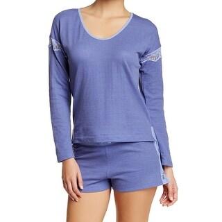 Betsey Johnson NEW Blue Lace-Trim Women's Size Medium M Sleepshirt