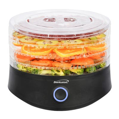 Brentwood 5 Tray Food Dehydrator in Black with Auto Shut Off