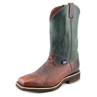 Chippewa Pitstop Round Toe Men 2E Round Toe Leather Green Western Boot