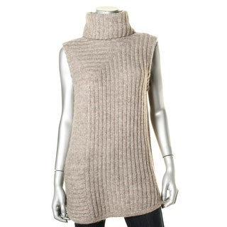 Theory Womens Knit Ribbed Sweater Vest - M