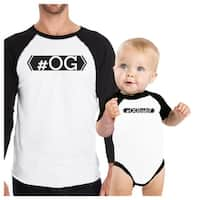 OG T-Shirt OG Baby Bodysuit Funny Dad And Baby Matching Baseball Tees