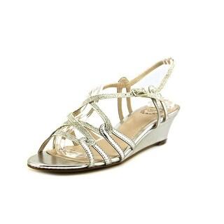 I. Miller Fair Women  Open-Toe Synthetic Silver Slingback Heel