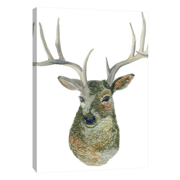 "PTM Images 9-105428 PTM Canvas Collection 10"" x 8"" - ""Yarn Deer"" Giclee Deer Art Print on Canvas"