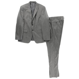 Calvin Klein Mens Wool 2PC Two-Button Suit - 42S