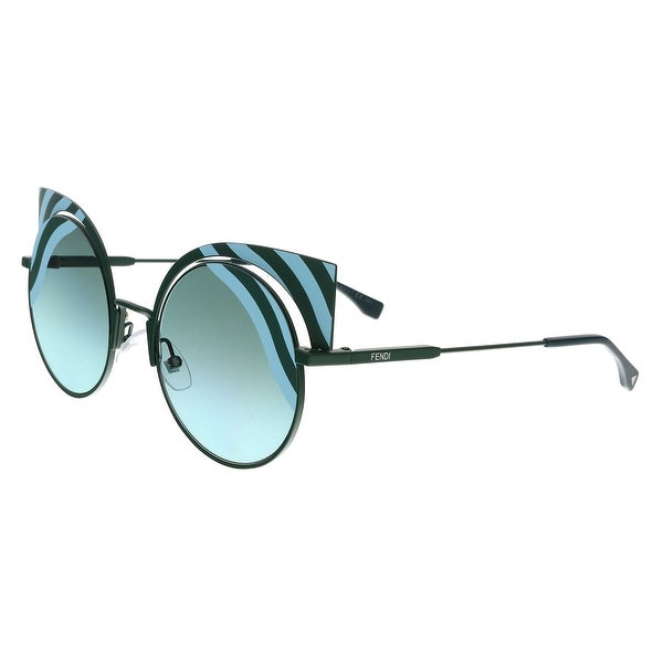 c4ce5c07c197 Shop FENDI FF 0215/S 00KC- EQ Teal Cat eye Sunglasses - 53-22-135 ...