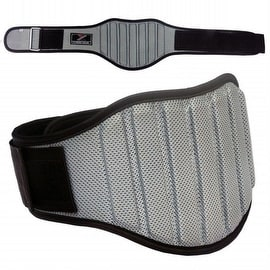 "Weight Lifting Belt Gym Back Support Fitness 8"" Wide Neoprene With Mesh Grey BT2"