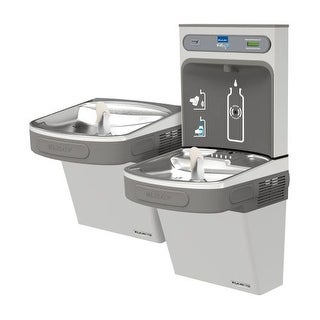 Elkay EZSTL8WSSK EZH2O Versatile Bi-Level Water Drinking Fountain and Bottle Filling Station