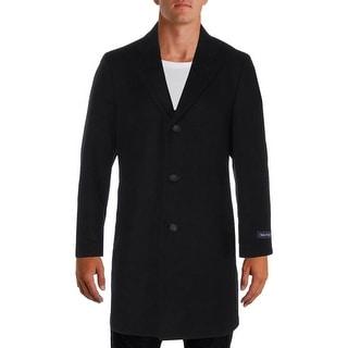 Nautica Mens Top Coat Wool Blend Notched Collar - 40r