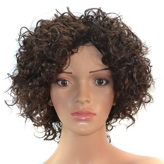 Negro Wig Afro Curled Hair Short Cap