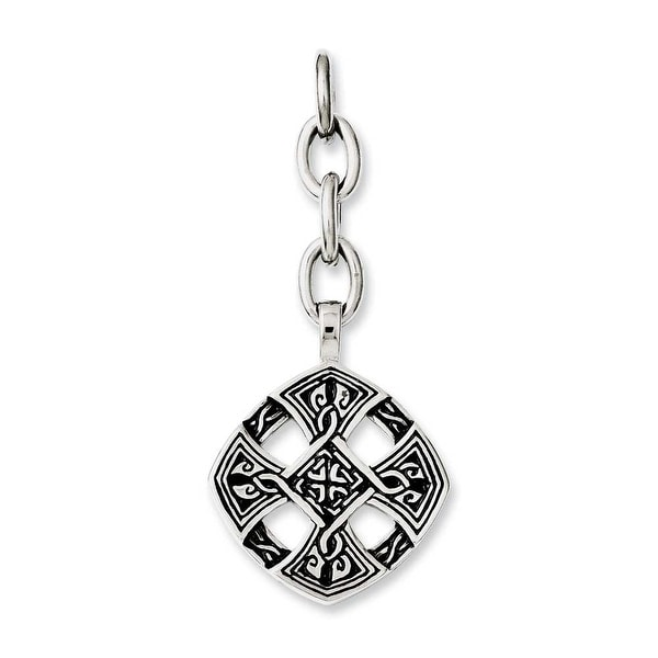 Chisel Stainless Steel Celtic Cross Interchangeable Charm Pendant (25 mm) - 2.25 in
