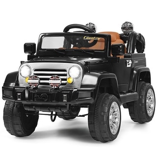 12V MP3 Kids Ride On Truck Jeep Car RC Remote Control w/ LED Lights