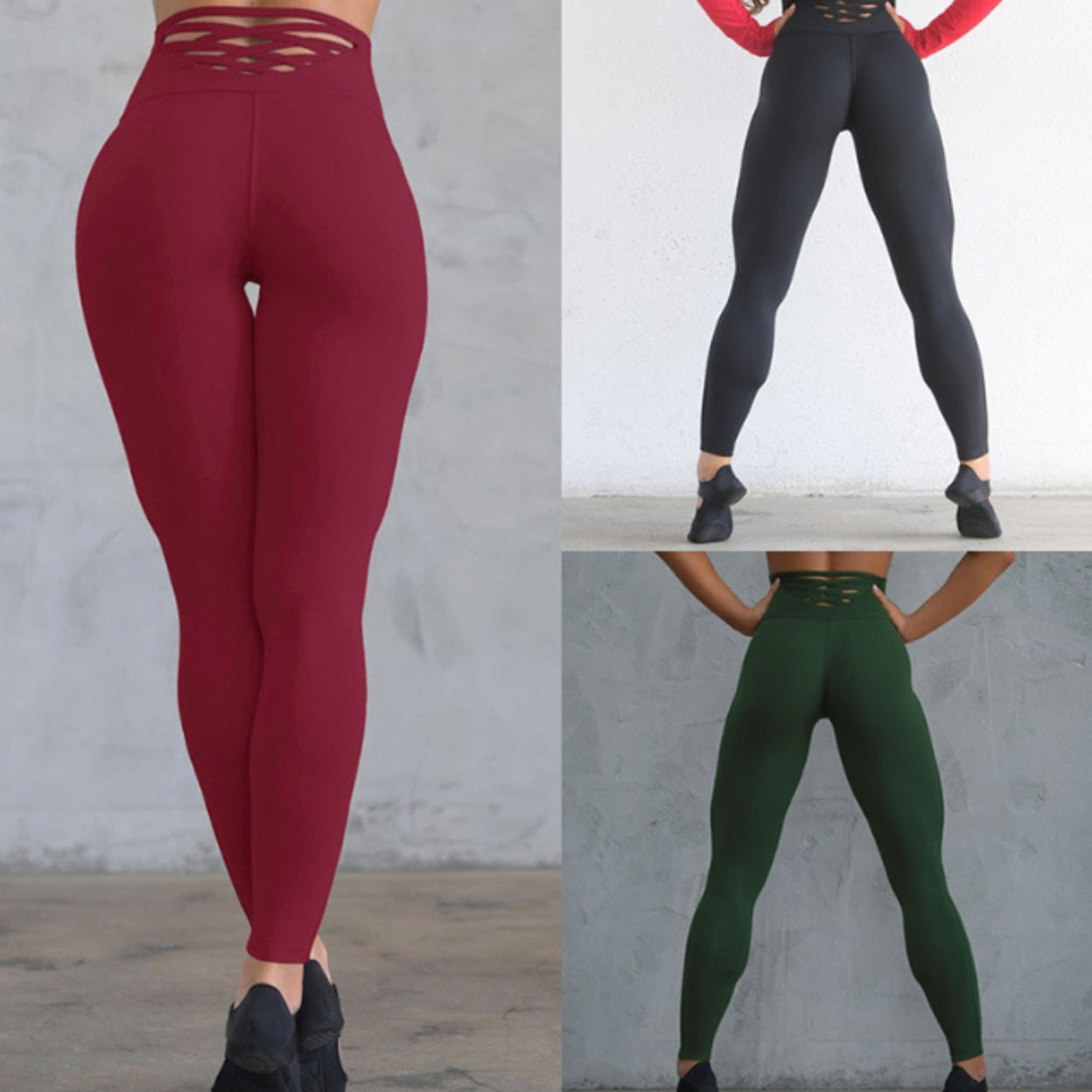 Shop Women S High Waist Yoga Pants Tummy Control Slimming Booty Leggings Workout Running Butt Lift Tights Overstock 31172888
