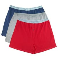 Fruit of the Loom Men's Big Size Knit Boxer Underwear (Pack of 3)