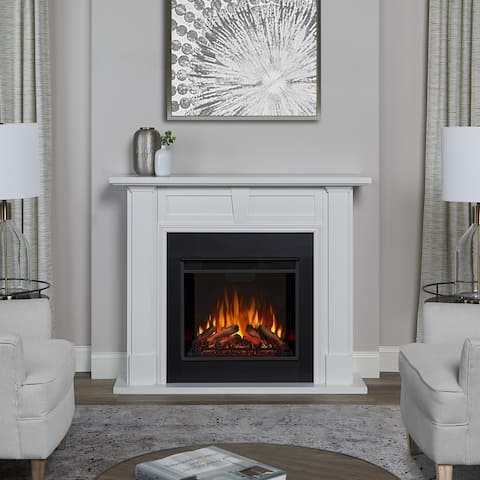 Granby Electric Fireplace in White