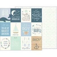 "Night Night Baby Boy Double-Sided Cardstock 12""X12""-Ahoy Baby Boy! Cards"