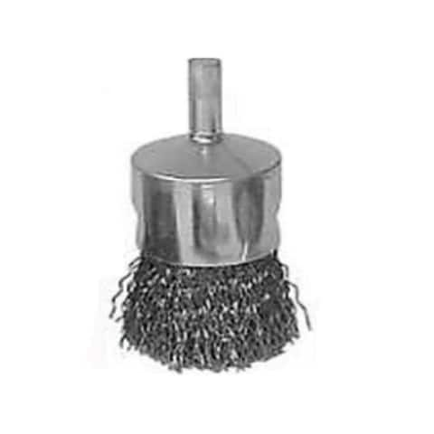 """Weiler 36047 Crimped Solid End Wire Brush, 3/4"""""""