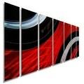 Statements2000 Red / Black Modern Metal Wall Art Painting by Jon Allen - Critical Mass - Thumbnail 0