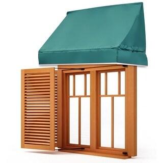 Gymax Window Awning Door Canopy Sun Rain Shade Shelter Green
