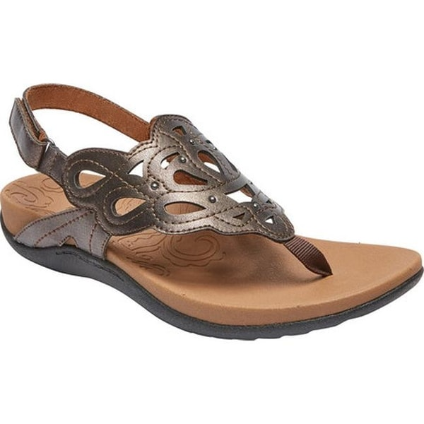 241a8383b6 ... Women's Shoes; /; Women's Sandals. Rockport Women's Ridge Sling  Sandal Bronze Leather