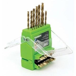 Kawasaki 30 pc Drill & Driver Bit Set - 840258 - Green/Black