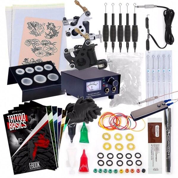 Shop Starter Tattoo Kit - 2 Machine Equipment Set - Free Shipping On ...