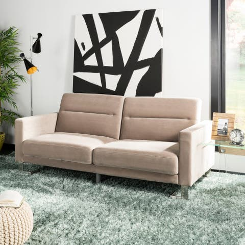 Safavieh Tribeca Grey Steel Foldable Futon Bed - 77.1' x 33.1' x 36.6'