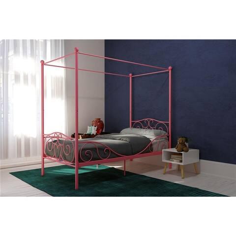 Avenue Green Carmi Pink Twin Metal Bed