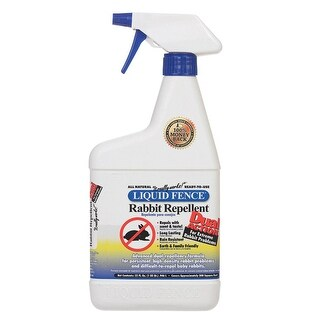Liquid Fence HG-72126 Animal Repellent Liquid For Rabbits, 32 oz.