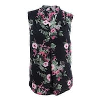 Nine West Women's Plus Size Floral-Print Shell Top (1X, Rosebud Multi) - Rosebud Multi - 1X