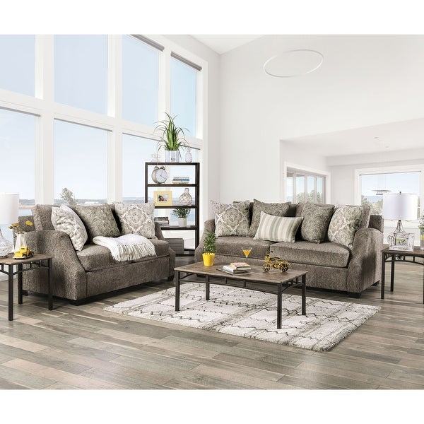 Furniture of America Blik Transitional Chenille 2-piece Living Room Set. Opens flyout.