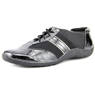 Ros Hommerson Nancy Women Round Toe Patent Leather Black Sneakers