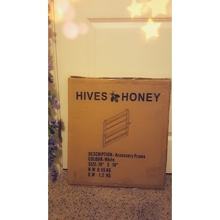 Hives and Honey White Jewelry Frame