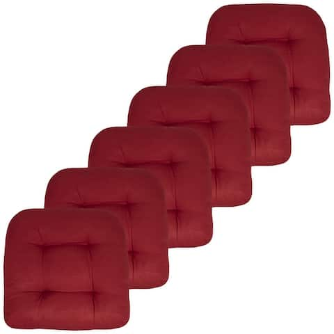 """Indoor-Outdoor Reversible Patio Seat Cushion Pad 12 Pack - 19"""" x 19"""""""
