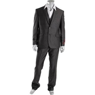 House of St. Benets Mens Heathered 3PC Two-Button Suit
