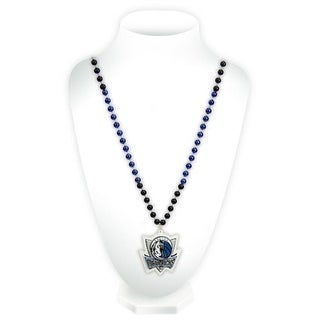 Dallas Mavericks Mardi Gras Beads with Medallion