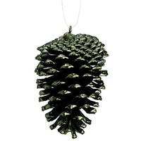 NorthLight 4 in. Rustic Lodge Dark Green Pine Cone Christmas Ornament