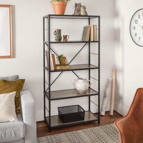 Carbon Loft Ora Industrial Rustic Bookshelf