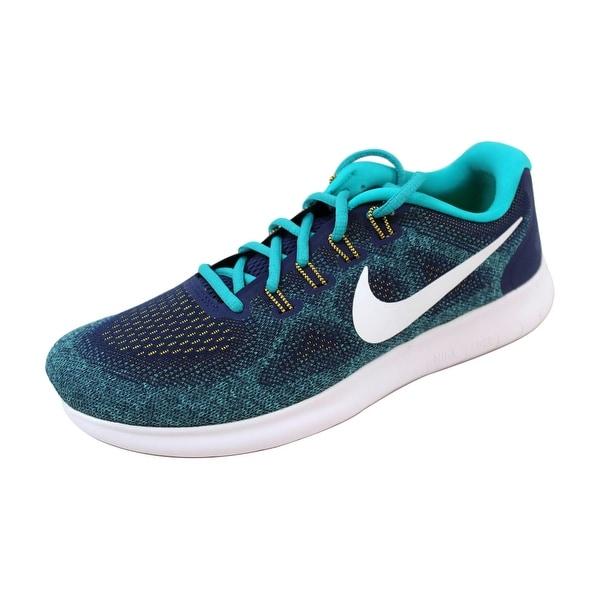 Nike Men's Free RN 2017 Binary Blue/White-Turbo Green 880839-403