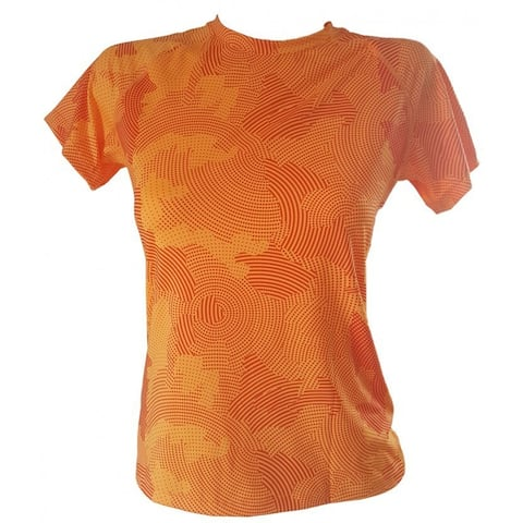 Activewear T-Shirt in Orange Print