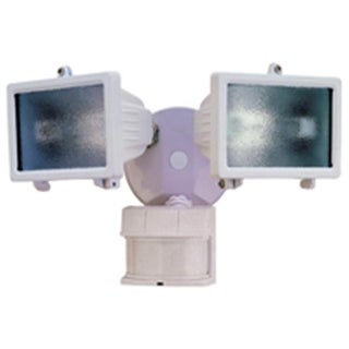 Heathco HZ-5512-WH Light Halogen Motion 2-Head 300 Watt White