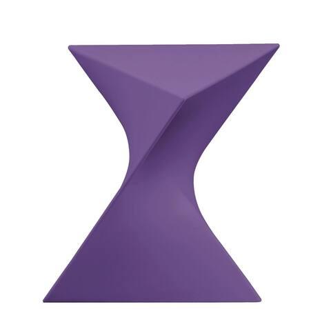 LeisureMod Quinzy Vanity Plastic Stool / Side Table